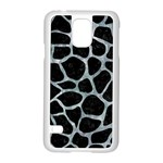 SKIN1 BLACK MARBLE & ICE CRYSTALS Samsung Galaxy S5 Case (White)