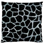 SKIN1 BLACK MARBLE & ICE CRYSTALS Large Flano Cushion Case (One Side)