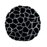 SKIN1 BLACK MARBLE & ICE CRYSTALS Standard 15  Premium Flano Round Cushions