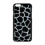 SKIN1 BLACK MARBLE & ICE CRYSTALS Apple iPhone 6/6S Black Enamel Case