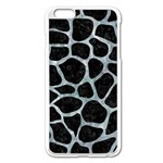 SKIN1 BLACK MARBLE & ICE CRYSTALS Apple iPhone 6 Plus/6S Plus Enamel White Case