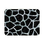 SKIN1 BLACK MARBLE & ICE CRYSTALS Double Sided Flano Blanket (Mini)
