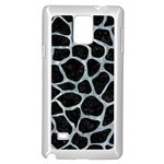SKIN1 BLACK MARBLE & ICE CRYSTALS Samsung Galaxy Note 4 Case (White)