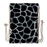 SKIN1 BLACK MARBLE & ICE CRYSTALS Drawstring Bag (Large)