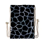 SKIN1 BLACK MARBLE & ICE CRYSTALS Drawstring Bag (Small)