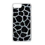 SKIN1 BLACK MARBLE & ICE CRYSTALS Apple iPhone 7 Plus Seamless Case (White)