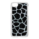 SKIN1 BLACK MARBLE & ICE CRYSTALS Apple iPhone 7 Seamless Case (White)