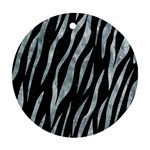 SKIN3 BLACK MARBLE & ICE CRYSTALS (R) Ornament (Round)