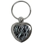 SKIN3 BLACK MARBLE & ICE CRYSTALS (R) Key Chains (Heart)