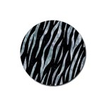 SKIN3 BLACK MARBLE & ICE CRYSTALS (R) Rubber Round Coaster (4 pack)