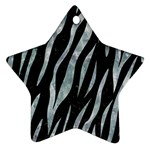 SKIN3 BLACK MARBLE & ICE CRYSTALS (R) Star Ornament (Two Sides)