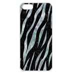 SKIN3 BLACK MARBLE & ICE CRYSTALS (R) Apple iPhone 5 Seamless Case (White)