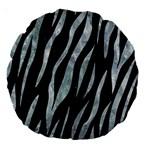 SKIN3 BLACK MARBLE & ICE CRYSTALS (R) Large 18  Premium Round Cushions