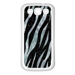 SKIN3 BLACK MARBLE & ICE CRYSTALS (R) Samsung Galaxy S3 Back Case (White)