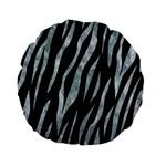 SKIN3 BLACK MARBLE & ICE CRYSTALS (R) Standard 15  Premium Flano Round Cushions