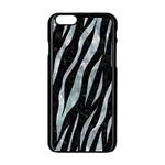 SKIN3 BLACK MARBLE & ICE CRYSTALS (R) Apple iPhone 6/6S Black Enamel Case