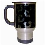 SKIN5 BLACK MARBLE & ICE CRYSTALS Travel Mug (Silver Gray)