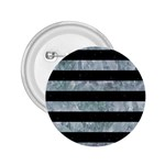 STRIPES2 BLACK MARBLE & ICE CRYSTALS 2.25  Buttons