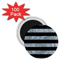 STRIPES2 BLACK MARBLE & ICE CRYSTALS 1.75  Magnets (100 pack)