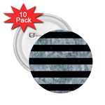 STRIPES2 BLACK MARBLE & ICE CRYSTALS 2.25  Buttons (10 pack)
