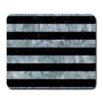 STRIPES2 BLACK MARBLE & ICE CRYSTALS Large Mousepads