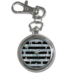 STRIPES2 BLACK MARBLE & ICE CRYSTALS Key Chain Watches