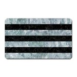 STRIPES2 BLACK MARBLE & ICE CRYSTALS Magnet (Rectangular)