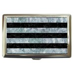 STRIPES2 BLACK MARBLE & ICE CRYSTALS Cigarette Money Cases