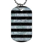STRIPES2 BLACK MARBLE & ICE CRYSTALS Dog Tag (Two Sides)