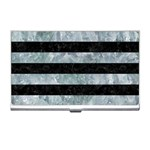 STRIPES2 BLACK MARBLE & ICE CRYSTALS Business Card Holders