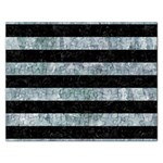 STRIPES2 BLACK MARBLE & ICE CRYSTALS Rectangular Jigsaw Puzzl