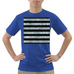 STRIPES2 BLACK MARBLE & ICE CRYSTALS Dark T-Shirt