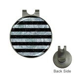 STRIPES2 BLACK MARBLE & ICE CRYSTALS Hat Clips with Golf Markers