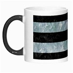 STRIPES2 BLACK MARBLE & ICE CRYSTALS Morph Mugs