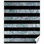 STRIPES2 BLACK MARBLE & ICE CRYSTALS Canvas 8  x 10