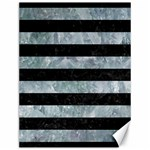 STRIPES2 BLACK MARBLE & ICE CRYSTALS Canvas 12  x 16