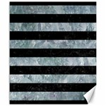 STRIPES2 BLACK MARBLE & ICE CRYSTALS Canvas 20  x 24