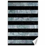 STRIPES2 BLACK MARBLE & ICE CRYSTALS Canvas 20  x 30