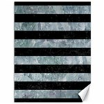 STRIPES2 BLACK MARBLE & ICE CRYSTALS Canvas 36  x 48