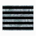 STRIPES2 BLACK MARBLE & ICE CRYSTALS Small Glasses Cloth (2-Side)