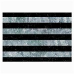STRIPES2 BLACK MARBLE & ICE CRYSTALS Large Glasses Cloth (2-Side)