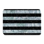 STRIPES2 BLACK MARBLE & ICE CRYSTALS Plate Mats