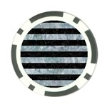 STRIPES2 BLACK MARBLE & ICE CRYSTALS Poker Chip Card Guard