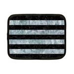 STRIPES2 BLACK MARBLE & ICE CRYSTALS Netbook Case (Small)