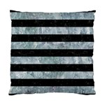 STRIPES2 BLACK MARBLE & ICE CRYSTALS Standard Cushion Case (One Side)
