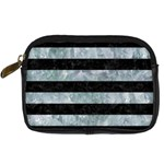 STRIPES2 BLACK MARBLE & ICE CRYSTALS Digital Camera Cases