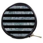 STRIPES2 BLACK MARBLE & ICE CRYSTALS Mini Makeup Bags