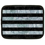 STRIPES2 BLACK MARBLE & ICE CRYSTALS Netbook Case (XXL)
