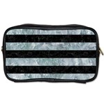 STRIPES2 BLACK MARBLE & ICE CRYSTALS Toiletries Bags 2-Side