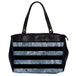 STRIPES2 BLACK MARBLE & ICE CRYSTALS Office Handbags
